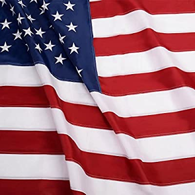 G128 - American USA US Flag Embroidered Stars Sewn Stripes Brass Grommets