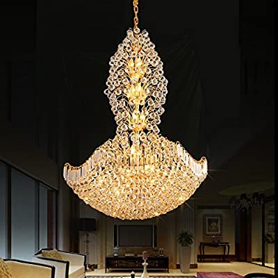 European-style duplex villa chandelier chandelier works in the lobby of the stairs of the building lights 4545cm