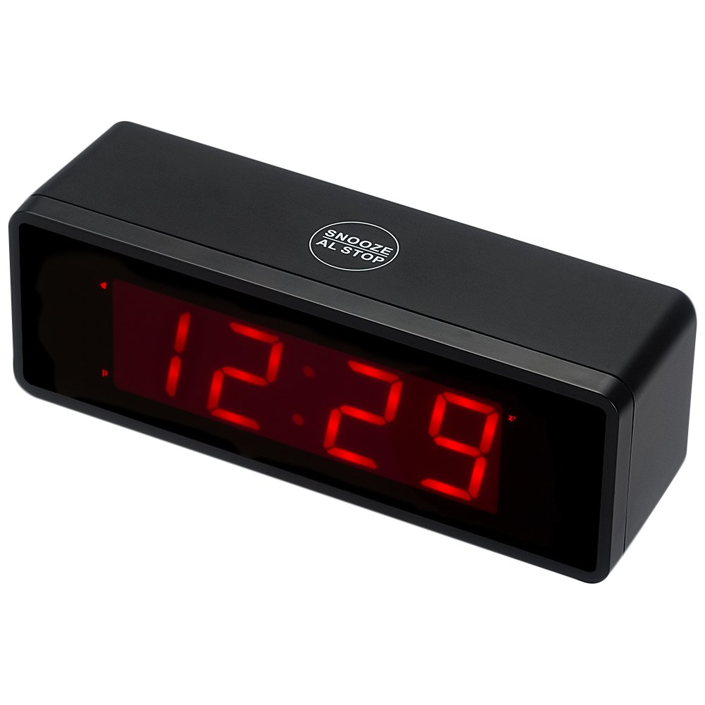 Amazon kwanwa cordless digital alarm clock with large 14 amazon kwanwa cordless digital alarm clock with large 14 red led numbers display and battery operated only electronics amipublicfo Choice Image