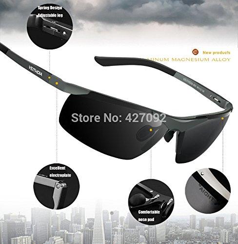 VEITHDIA Polarisierter Sport Sonnenbrille f¨¹r Herren und Damen Skifahren Golf Laufen Radsport Superleichtes Rahmen 6588-grey OQWeuwL9