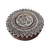 8 Inch Textile Large Printing Stamp Mandala Round Design Big Wood Block