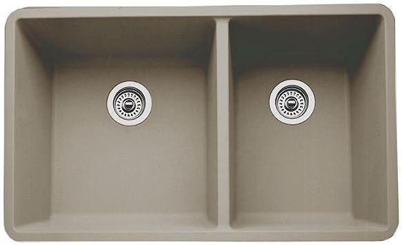 33 X 18 Kitchen Sink Truffle Double Bowl Sinks