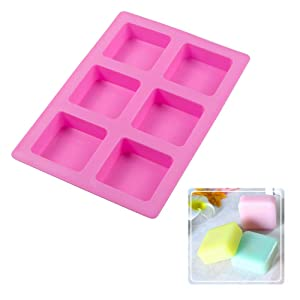 Webake Silicone Brownie Pan 2 Pack Square Bar Molds For Baking, Cupcake, Cheesecake, Cornbread, Muffin, Sponge Cake, Soap, Resin Epoxy Casting (Color: Pink, Tamaño: Square Bar)