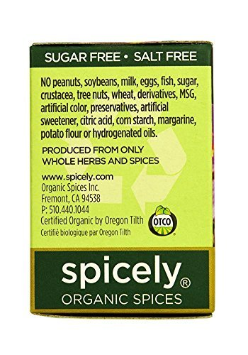 Spicely Organic Rosemary Powder 0.20 Ounce ecoBox Certified Gluten Free