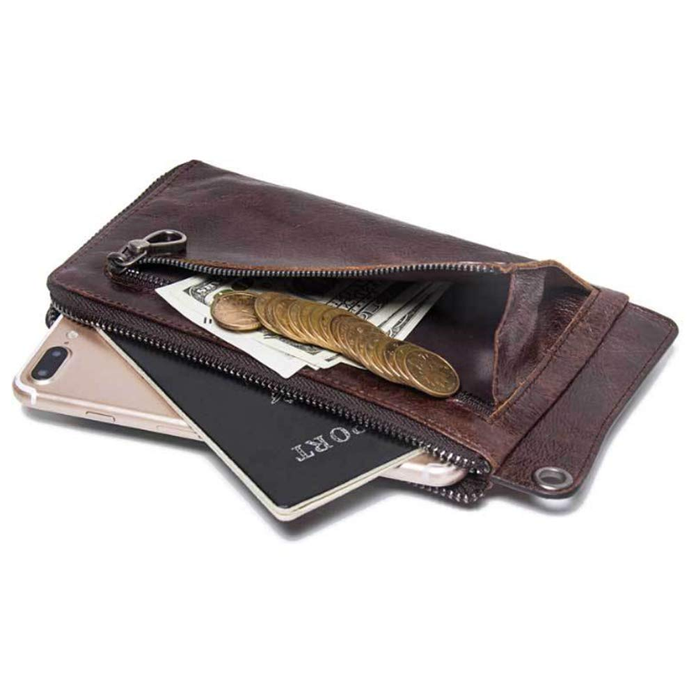 Color : Brown, Size : S GROSSARTIG Multi-Function Casual Leather Clutch Mens Wallet