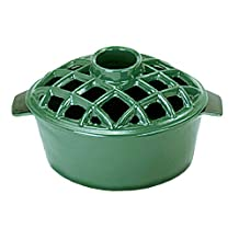 Achla Designs Minuteman International T-50-GR 2.2-Quart Enamel Steamer, Lattice Top