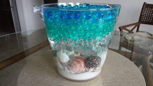 Jelly BeadZ - MAKE YOUR OWN 4 COLOR HAWAIIAN ISLANDS OCEAN -Water Bead gel 4 PACKS -- 10 grams per pack -