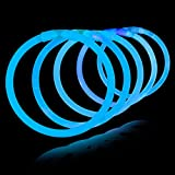 Lumistick 100 Count BLUE 8'' Light-Up Premium GlowSticks/Bracelets in Glowsticks - Comes With Bracelet Connectors - Perfect for Birthdays, Parties, Performances, Halloween & More!