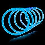 """8"""" Lumistick Glowsticks Glow Stick Bracelets BLUE (Tube of 100)"""