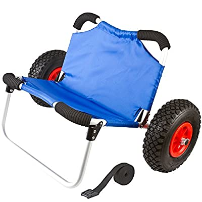 Rage Powersports KC-DOLLY-SEAT Hybrid Wide Hull Kayak and Canoe Dolly Cart with Seat