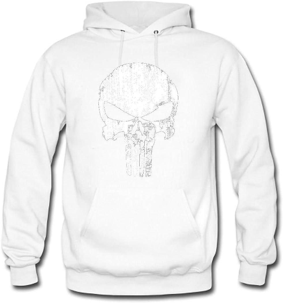 weileDIY Punisher Skull DIY Custom Mens Classic Hoodie Sweatshirt