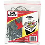 Alliance Can Bandz - Large Elastic Bands for Keeping Wastebasket Liners Secure - 7 x 1/8 Inches Black Bands - 50 per Resealable Bag (7810)
