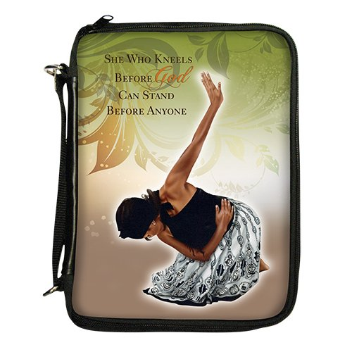 """Office Products : African American Expressions - She Who Kneels Bible/Book Organizer (7.5"""" x 10.5"""" x 2.5,"""" Removable shoulder strap included) BO-123"""