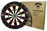 Professional Dartboard | for Steel Tip Darts | Staple-Free Bullseye | Thin Spider Blade Wire System | Natural Fibers Material for Self- Healing Ability | Movable Number Ring | Tournament Size 18''x1.5''