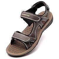 GUBARUN Athletic Sandals for Men Open-Toe Sandals Strap Summer Shoes (11, Coffee 1)