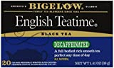 Bigelow Decaffeinated English Teatime Tea, 20-Count Boxes