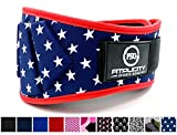 Weight Lifting Belt by Fitplcity (Old Glory, Medium)