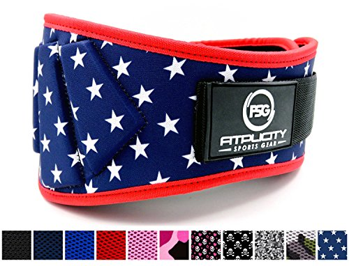 Fitplicity Weight lifting Belt, For Weightlifting, CrossFit, Olympic Lifting, Powerlifting, Squat and Deadlifts, 6 Inch Back Support for Men and Women – DiZiSports Store