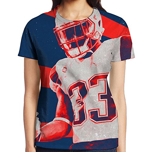 Oiedrt Football Player Female Humor Cool T Shirt Stretch Supima Blouse Shirts For Young Woman]()