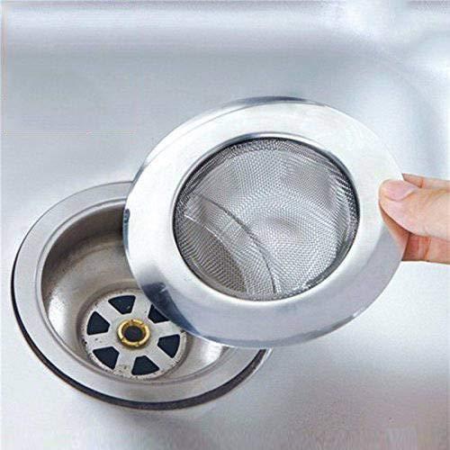 Inditradition Stainless Steel Strainer Kitchen Drain Basin Basket Filter Stopper Drainer Sink Jali, 10.5 cm Full…