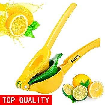 Lemon Squeezer - Kaitsy New Top Aluminum Alloy Citrus Squeezer 2-in-1 Lemon Juicer / Lime Squeezer