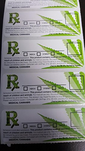100-Medical-Marijuana-Cannabis-Rx-Labels-MMJ-ALL-50-STATES-420-Stickers-Generic