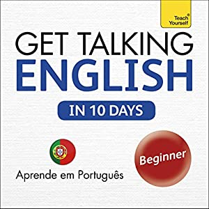 Get Talking English in Ten Days: Learn in Portuguese Audiobook