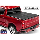 """Gator Covers 59115 fits Chevy/GMC Silverado/Sierra 1500 (5 ft 8 2019,""""New Body Style"""" Soft Tri-Fold Truck Bed Tonneau Cover"""