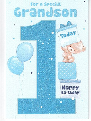 For A Special Grandson On Your 1st Birthday Card