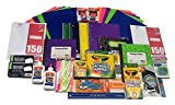 Ultimate Back To School Supplies Bundle-Paper, Pens, Markers, Crayons, Folders, Scissors, Glue, Ruler, Pencil Sharpener etc.