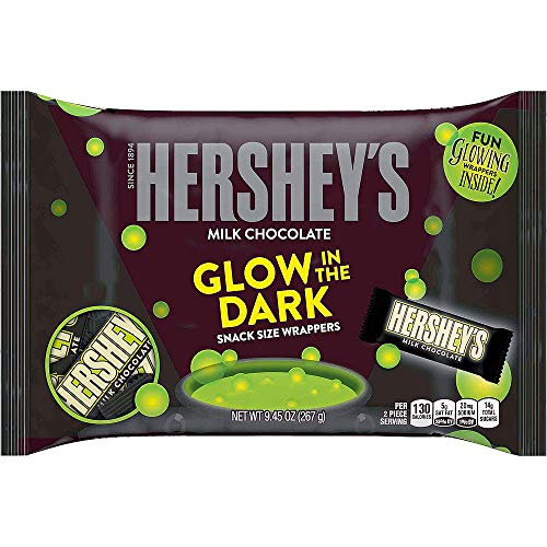 - Hershey's Chocolate Glow in the Dark Snack Size Candy Bars: 9.45-Ounce Bag (2 pack)