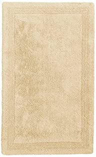 Pinzon Luxury Reversible Cotton Bath Mat – 21 x 34 inch, Ivory