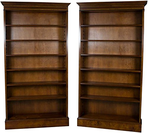 Antique Mahogany Bookcases - Pair of Mahogany Antique Style Bookcases