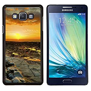 Qstar Arte & diseño plástico duro Fundas Cover Cubre Hard Case Cover para Samsung Galaxy A7 A7000 (Puesta del sol del desierto Paisaje)