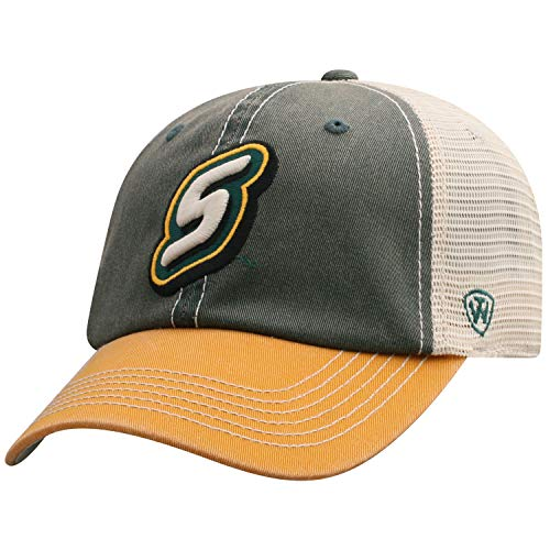 Top of the World Men's Relaxed Fit Adjustable Mesh Offroad Hat Team Color Icon, Southeastern Louisiana Lions Green,