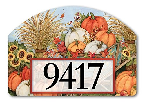 Yard Designs Address Magnet - Pumpkin Wagon Yard DeSign Address Sign - 14