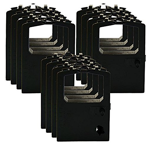 12 Packs Ribbon Cartridge for OKIDATA OKI MICROLINE ML 180-182-184-320-390-391 (Okidata Oki Black Ribbon Cartridge)