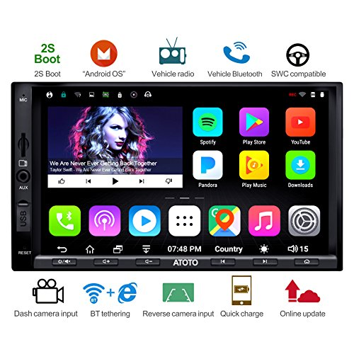 [NEW] ATOTO A6 2DIN Android Car Navigation Stereo with Dual Bluetooth & 2A Charge - Premium A6Y2721PB 2G+32G Car Entertainment Multimedia Radio,WiFi/BT Tethering internet,support 256G SD &more