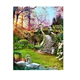 Bangle009 Big Promotion Landscape Flowers Resin Diamond DIY Painting Craft Kit Gift Home Wall Decor