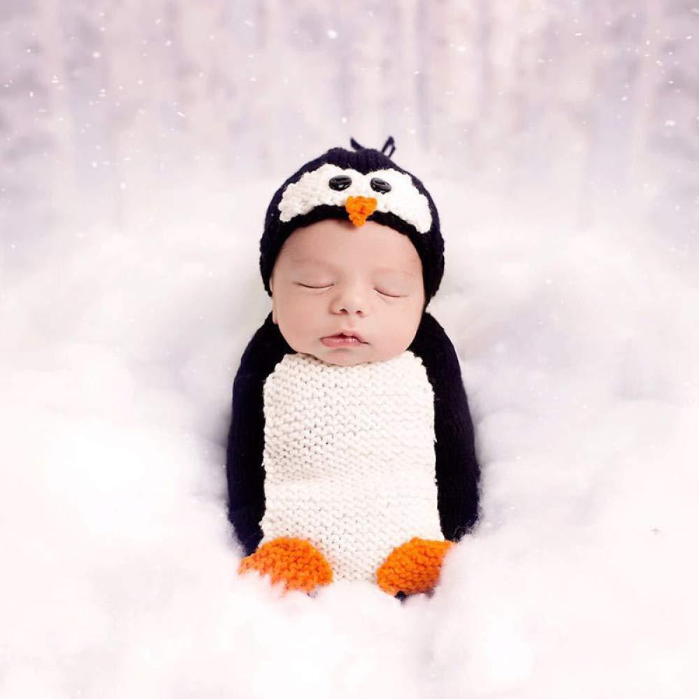 PW WP atrezzo fotografia Bebes atrezzo fotografia Feliz Navidad Pinguuml;ino Estilo Conjunto de bebé Tejidos a Mano del algodón de Leche