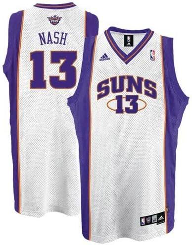 Rétro Steve Nash #13 Phoenix Suns Basketball Maillots Jersey Cousu Blanc