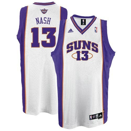 Phoenix Suns Steve Nash White Swingman #13 Jersey Adidas
