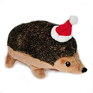 Pet Supplies : ZippyPaws Holiday Hedgehog Squeaky Plush