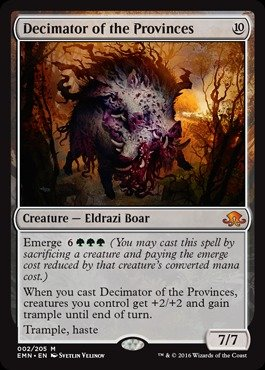 Magic: the Gathering - Decimator of the Provinces (002/205) - Eldritch Moon
