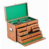 TRINITY TWM-3501 Wood Toolbox, Brown