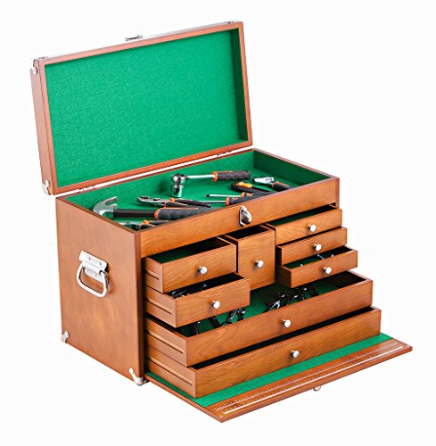 TRINITY TWM-3501 Wood Toolbox, Brown
