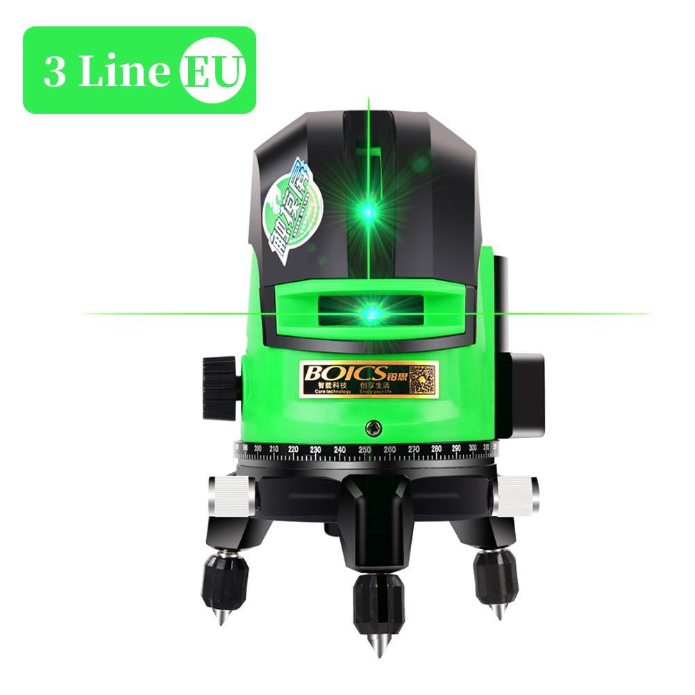 L/áser cruzado verde de 30M l/áser horizontal de 5 hilos l/áser horizontal horizontal de autoequilibrio horizontal de 360/° IP 54 para l/íneas horizontales verticales y horizontales
