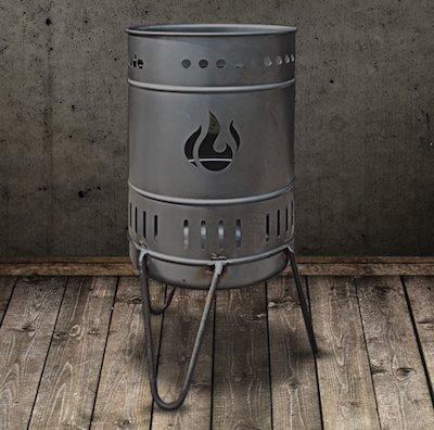 Feuerkorb 112er (50 Liter) - DIE Stahlbude, Emblem:Flamme
