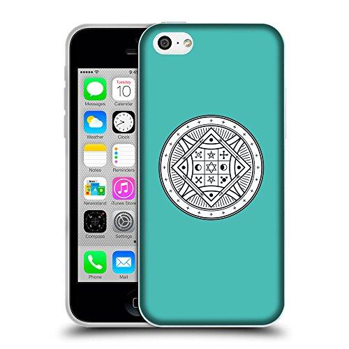 GoGoMobile Coque de Protection TPU Silicone Case pour // Q09720634 Mystique occulte 21 Turquoise // Apple iPhone 5C