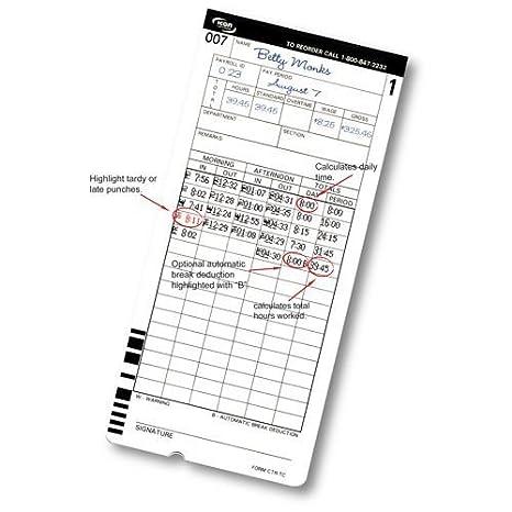 Icono ctr-tc-200 tiempo reloj tiempo tarjetas - 200 unidades: Amazon.es: Oficina y papelería